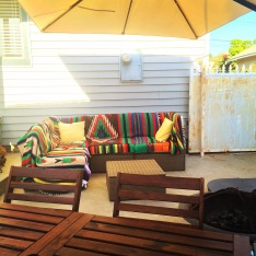 The folks gifted us this relaxing back patio set up! Perfect place for some major healing!